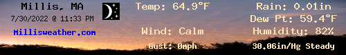 Current Weather Conditions in Millis, MA